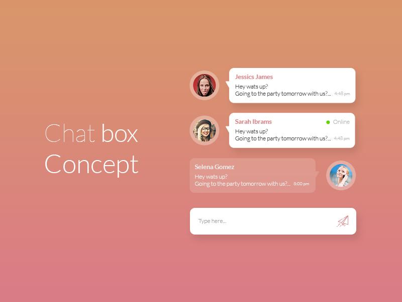 Chat box concept chat box desing
