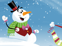 Unitus Holiday Greetings Window Sign Detail Snowman