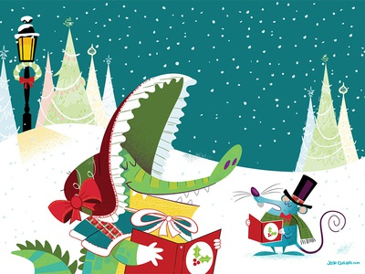 Carolers Christmas Card