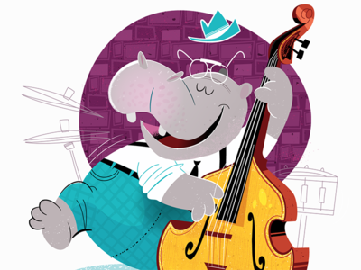 Bass Playing Hippo