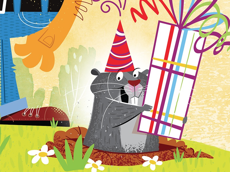 Gopher Birthday birthday vector illustration humor gopher happy party greeting card
