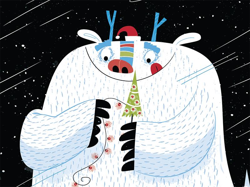 Christmas Monster christmas tree decorations winter holidays monster yeti christmas