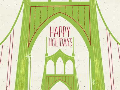 St Johns Bridge Christmas st. johns bridge red green holidays pdx portland christmas
