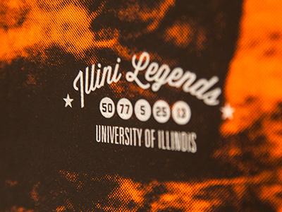 Illini Legends illini legends illinois university screen printing design graphic eduardo diazmunoz
