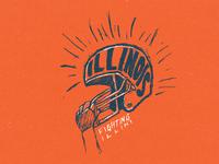 Fighting Illini Helmet