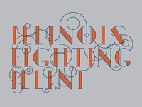 Vintage Illinois Fighting Illini Wordmark