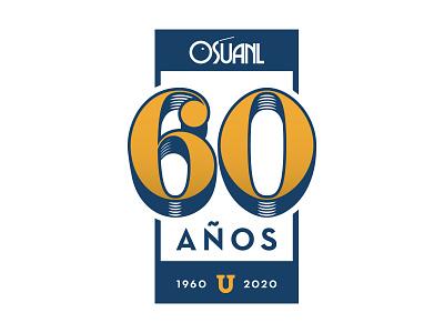 OSUANL - 60 Años monterrey león leon nuevo orquestra años years sixty 60 osuanl logo diazmuñoz diazmunoz eduardo