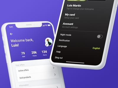 Profiles UI KIT profiles profile screens modern ui kit kit design ux ui mobile app