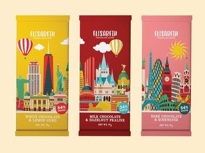 Elisabeth Chocolate Candy Packaging Design