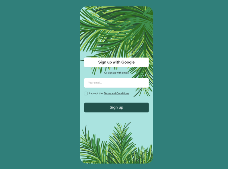 Daily UI: Sign up