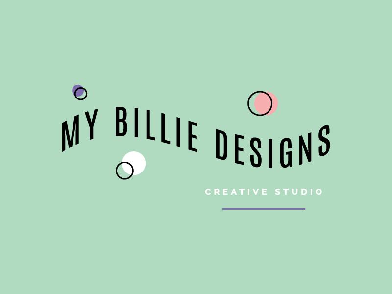 Logo design for My Billie Designs (my design studio) branding playful design logo design