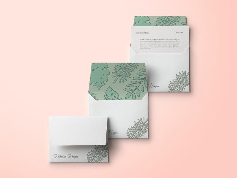 Katherine Kemper Envelope Mockup pattern design mockup brand identity