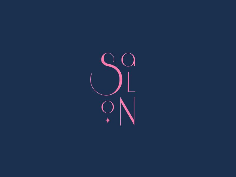 Salon branding type play