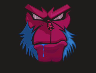 Angry Monkey illustration