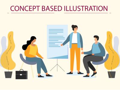Modern flat web illustration