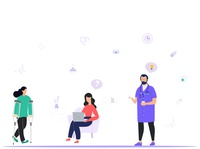 Design illustration Medicoband website