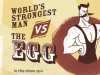Circus Strong Man Design Element