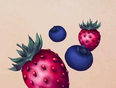 Berries procreate digital art illustration