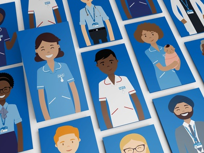 Character illustration system for NHS Professionals
