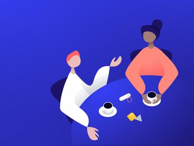 Breakfast Roundtable concept