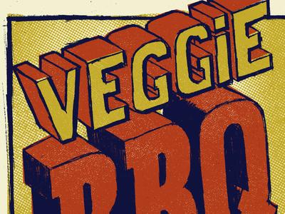Veggie BBQ veg bbq lettering type sketch pencil