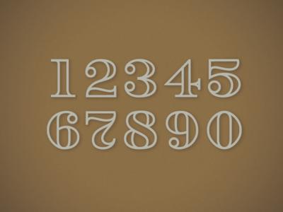 Figure Set retro vintage stroke figures numbers