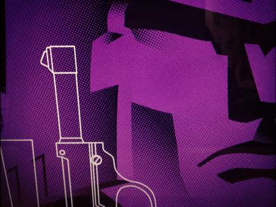 Megatron megatron transformers purple gun half-tone screen