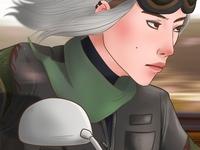 Yumi in a motorbike original character oc illustration illustration digital digital artwork artwork art illustration art