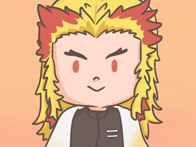rengoku kimetsu no yaiba commission open kimetsu no yaiba demon slayer chibi cartoon art artwork commission animeart anime illustration art