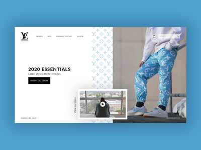 Louis Vuitton Website Concept