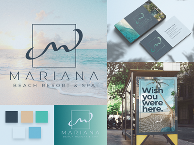 Mariana Beach Resort & Spa Branding logodesign tropical vacation resort logo brand brand identity brand design branding