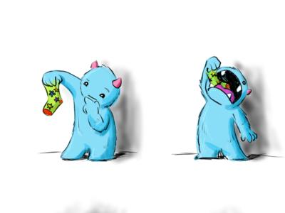 Sock Monster procreate childrens book monster