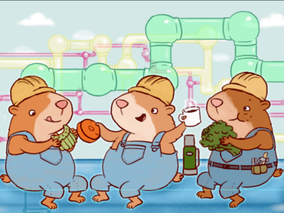 How do you find the right color for hamsters? photoshop hamsters illustration color work childrens illustration