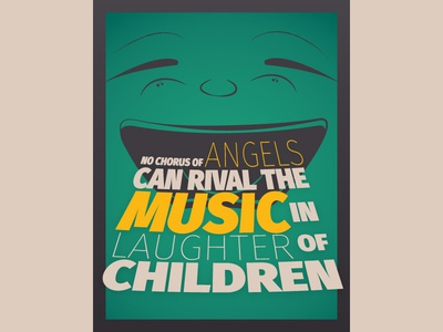 Laughter of Children - Poster illustration typography poster