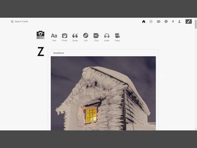 Tumblr Dashboard Redesign