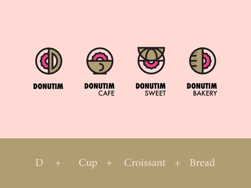 DONUTIM Cafe Bakery Identity | Alternative Concept  |