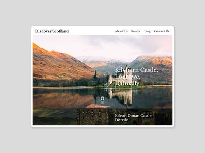Discover Scotland Landing Page desktop landing ux ui design