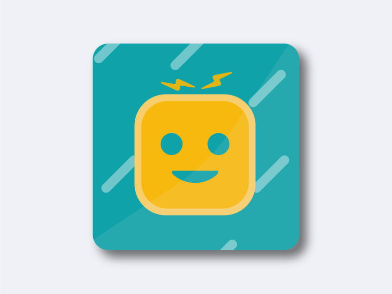 Robot AI icon mobile illustration design app
