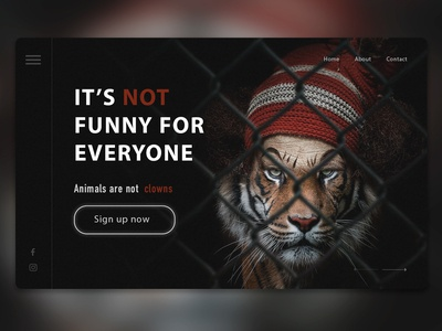Animals Are Not Clowns Home Page Concept