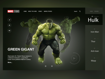 Marvel Studios Home Page Concept