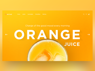 Orange Juice Home Page Concept