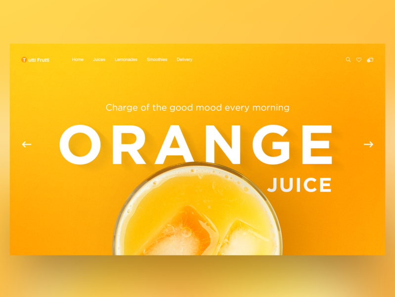 Orange Juice Home Page Concept landing page daily e-commerce juice orange ui uiux concept illustration landing home page adobe photoshop website