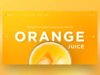 Orange Juice Home Page Concept
