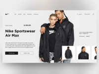 Nike - Store Home Page Concept