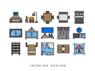 Interior design vector design icon ui