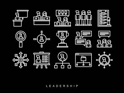 LEADERSHIP ICONS vector ui graphic design icon