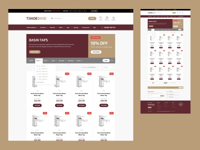 TradeBase - Product Listing ecommerce website design website ui