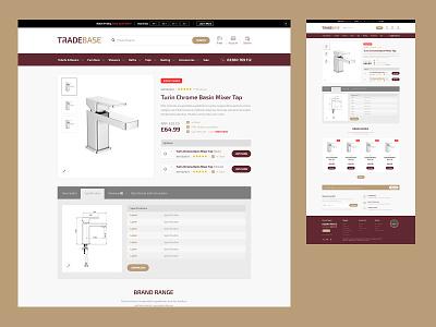 TradeBase - Product Details ecommerce website design website ui