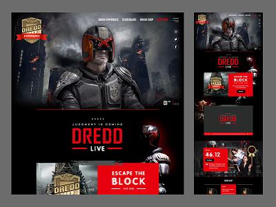 Judge Dredd Experience - Concept design branding brand identity brand website design website