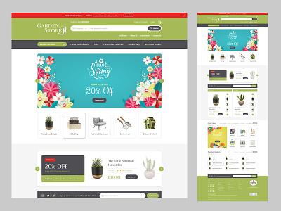 Garden Store - Home Page Concept ecommerce ui website design website